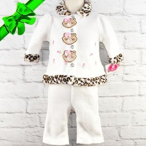 Young Hearts Baby Animal Print Trim Set ~dl06p1a2u